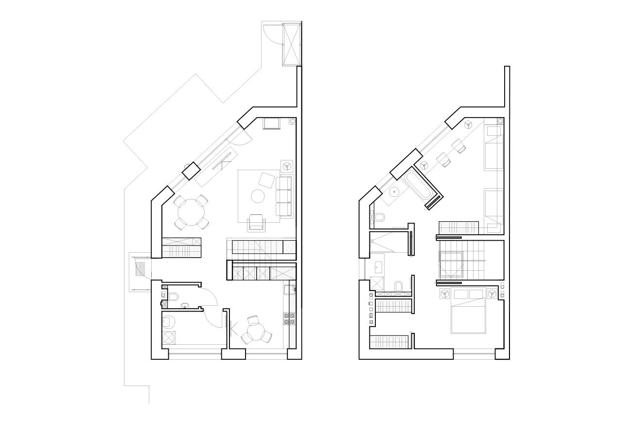 Balta estetika - privataus interjero projektas planas