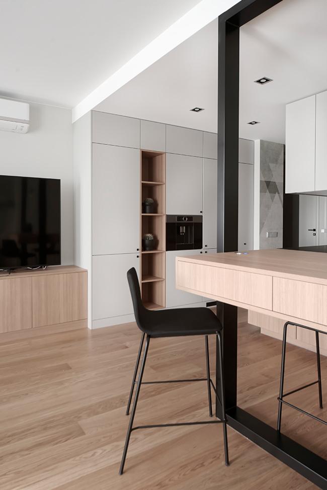 Jaunatviškas minimalizmas - privataus interjero projektas - 11